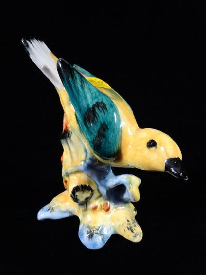 STANGL POTTERY BIRD, YELLOW WARBLER, WITH STANGL MARK,
