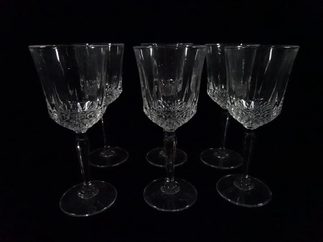 "6 PC CRYSTAL WINE GLASSES, APPROX 7""H"