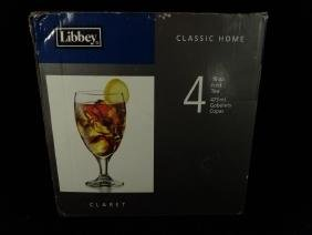 4 LIBBEY ICED TEA GLASSES NEW IN BOX, 16 OZ., APPROX