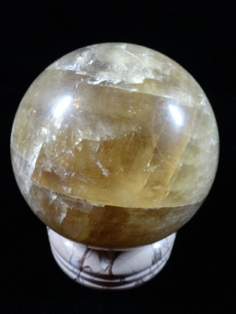 """LARGE CARVED STONE BALL, APPROX 4 1/2"""" X 4 1/2"""""""