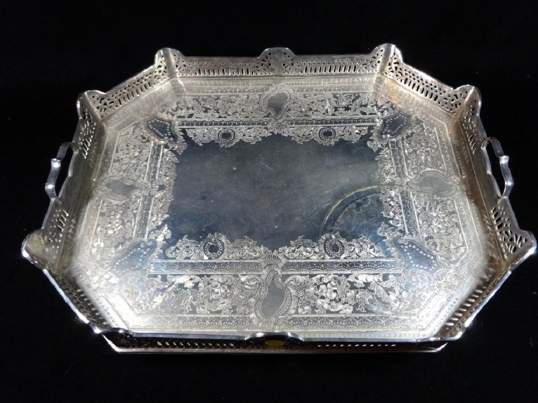 """SILVERPLATE TRAY, APPROX 15"""" X 20"""""""