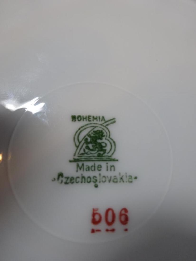 "12 PC BOHEMIAN CZECH PLATES, APPROX 8"" X 8"" - 5"
