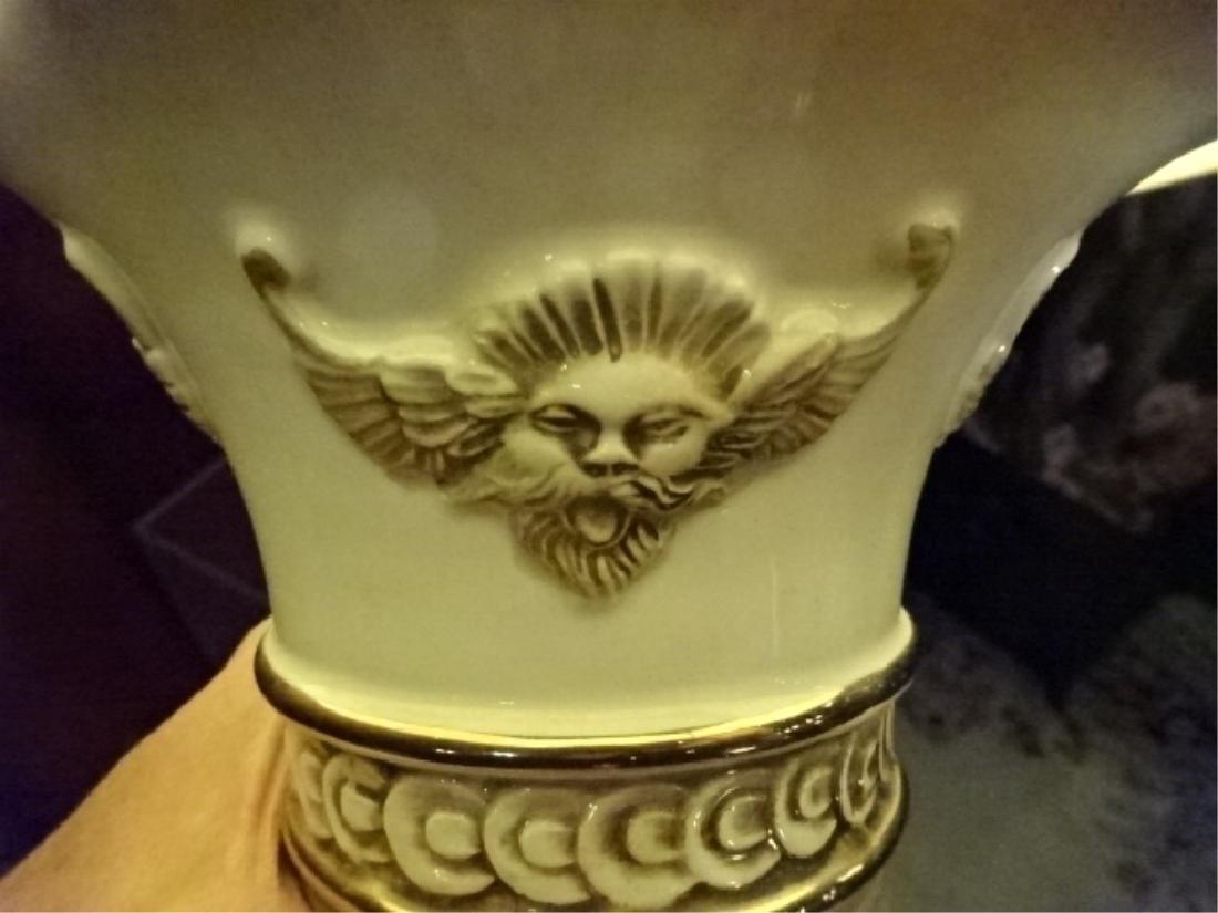 LARGE ITALIAN PORCELAIN LAMP, MARKED MAS R. - 8