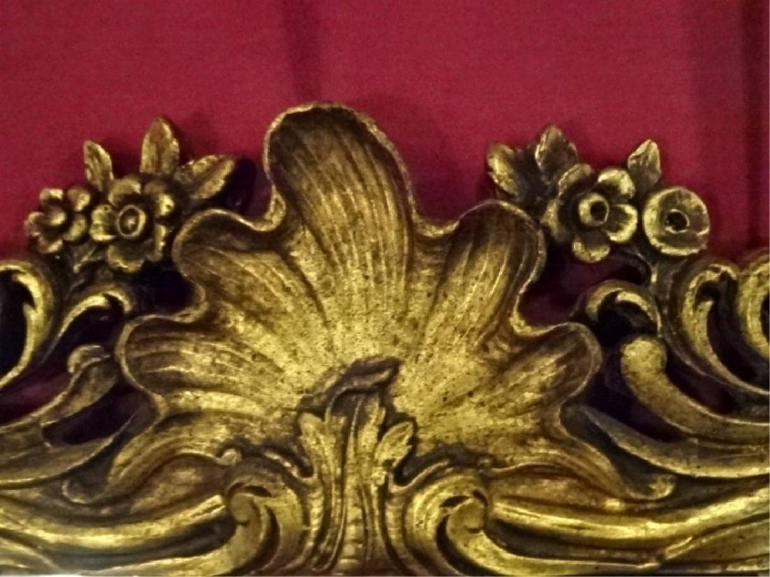 LARGE ROCOCO GOLD GILT WOOD MIRROR, VERY GOOD - 3
