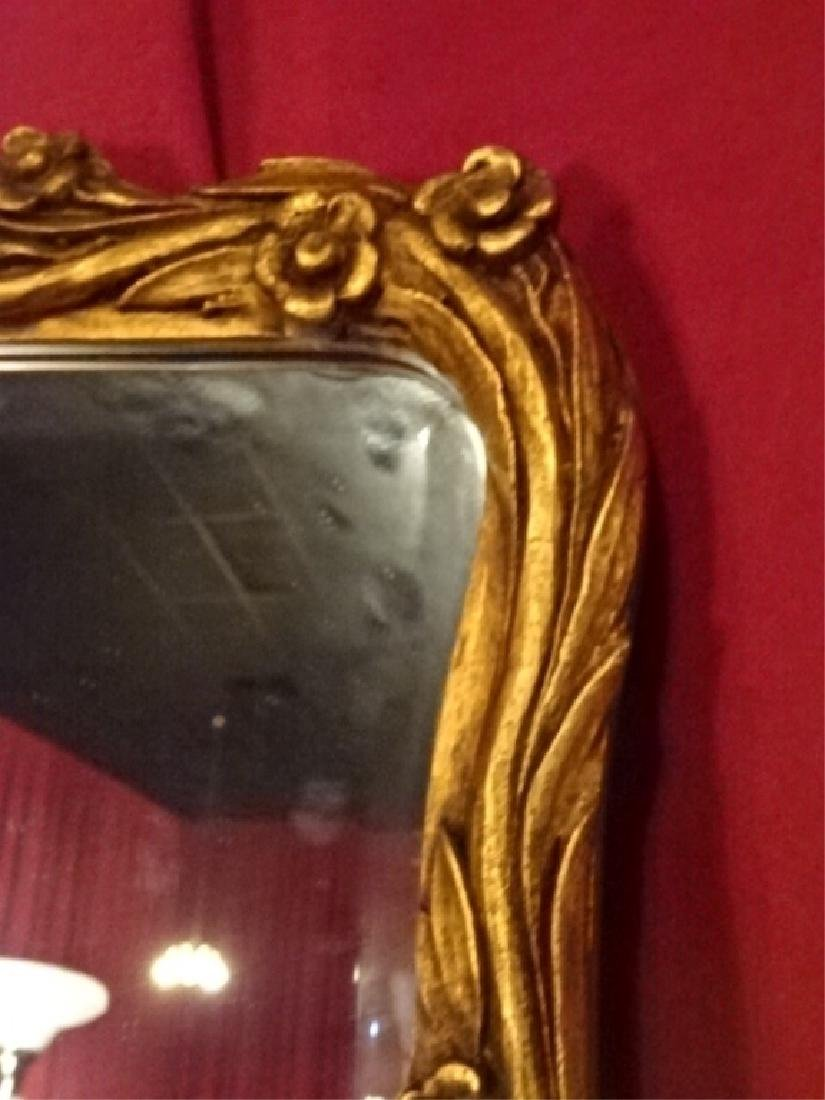 LARGE ROCOCO GOLD GILT WOOD MIRROR, VERY GOOD - 5