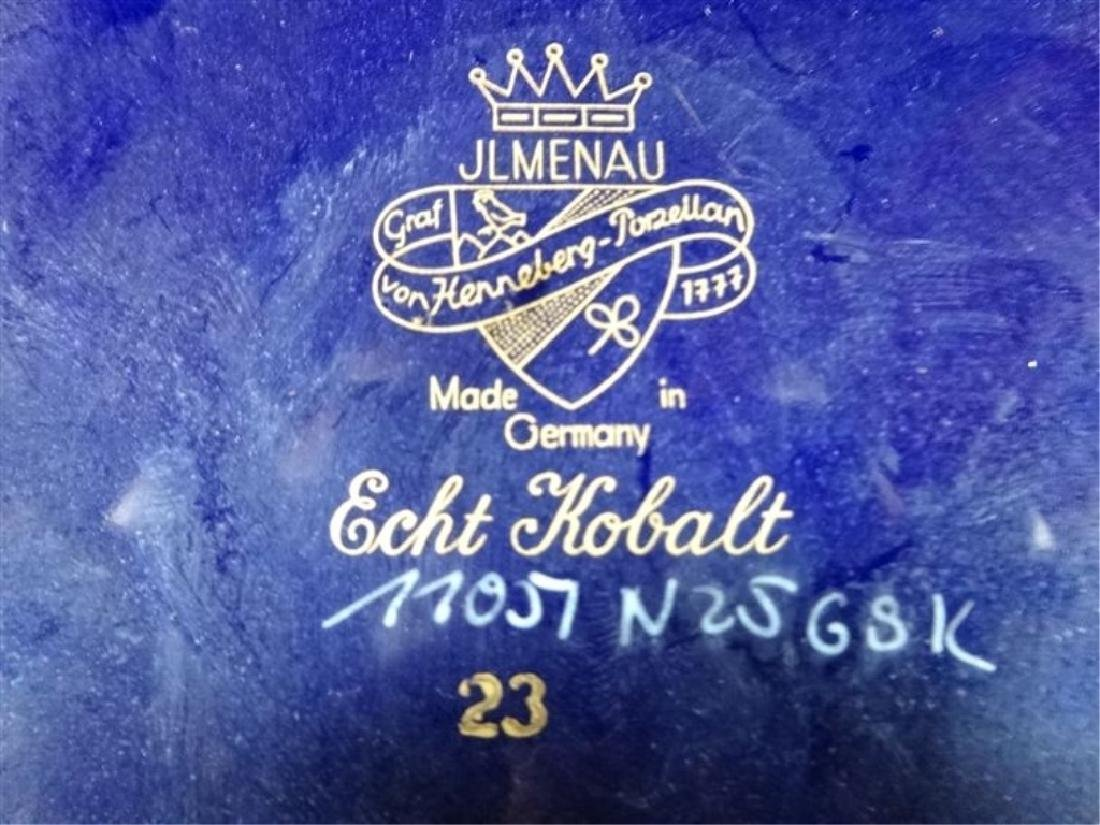JL MENAU ECHT KOBALT PORCELAIN FOOTED BOWL, COBALT BLUE - 4