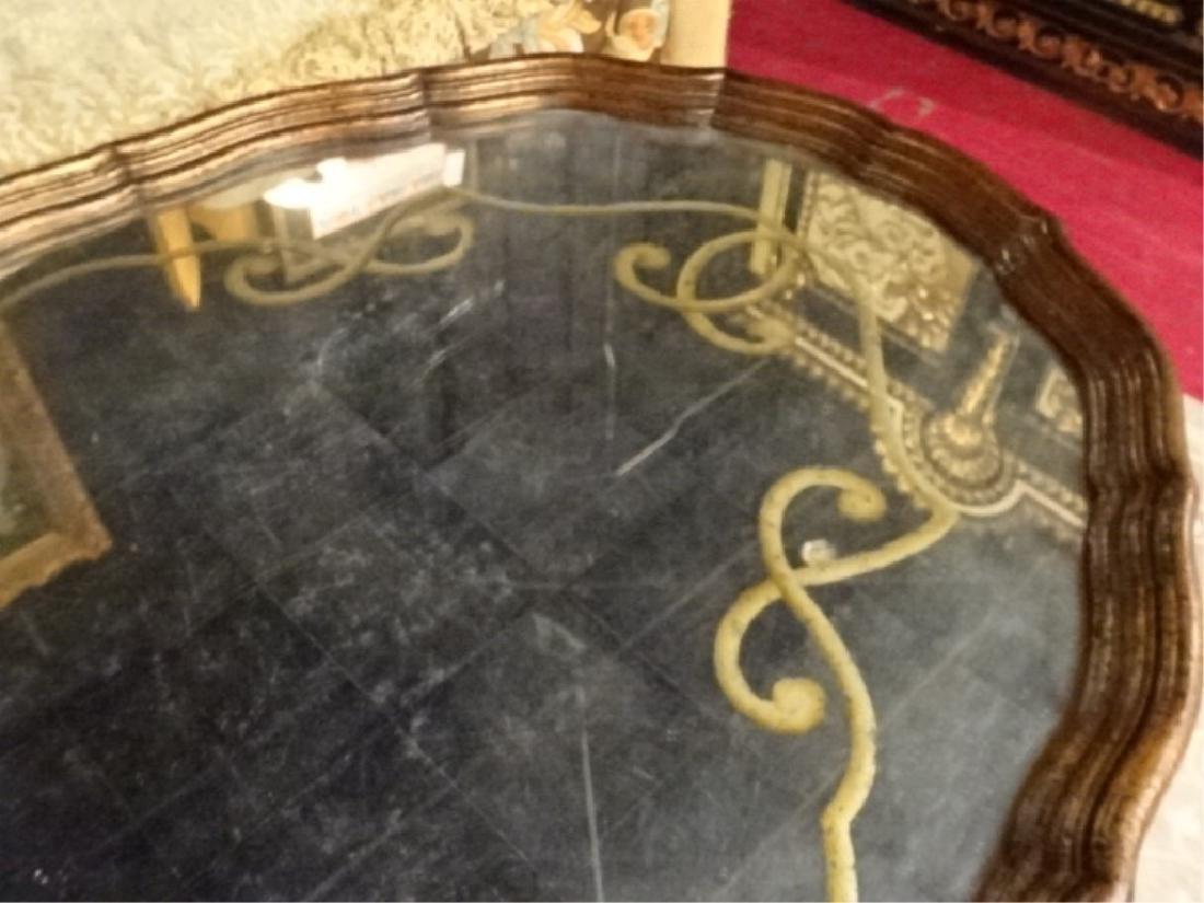 JOHN RICHARD GOLD GILT EBONIZED COFFEE TABLE, WITH - 5