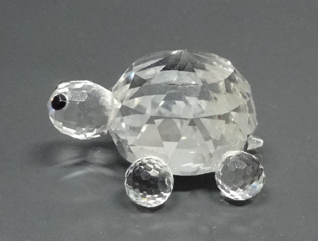 "CRYSTAL TURTLE FIGURINE, MARKED NC, APPROX 1.25""L"
