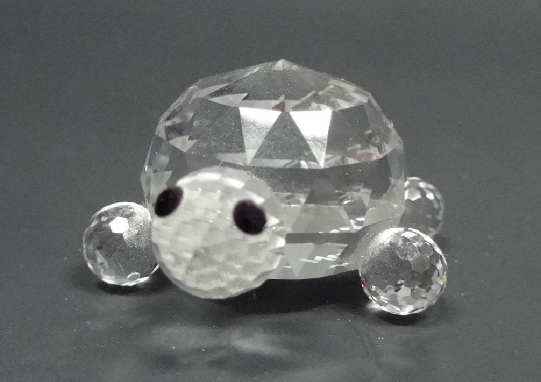 "CRYSTAL TURTLE FIGURINE, MARKED NC, APPROX 1.25""L - 2"