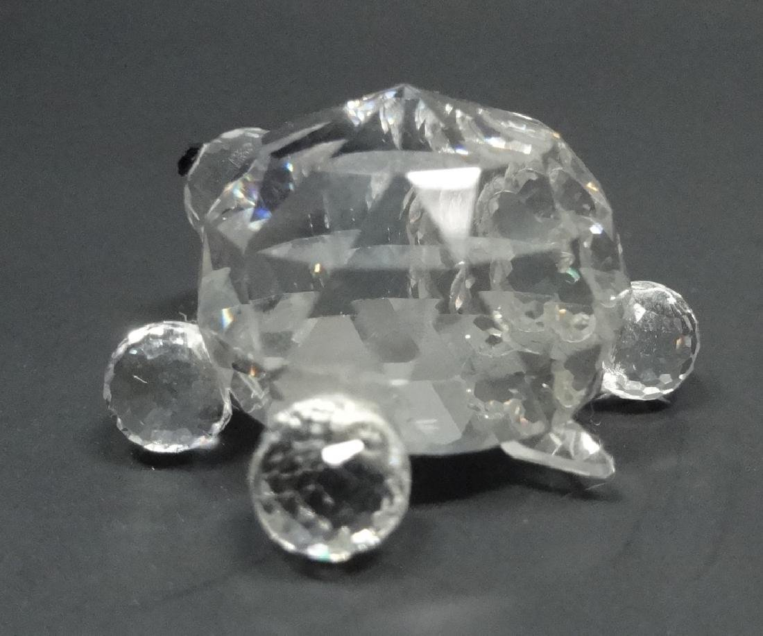 "CRYSTAL TURTLE FIGURINE, MARKED NC, APPROX 1.25""L - 3"