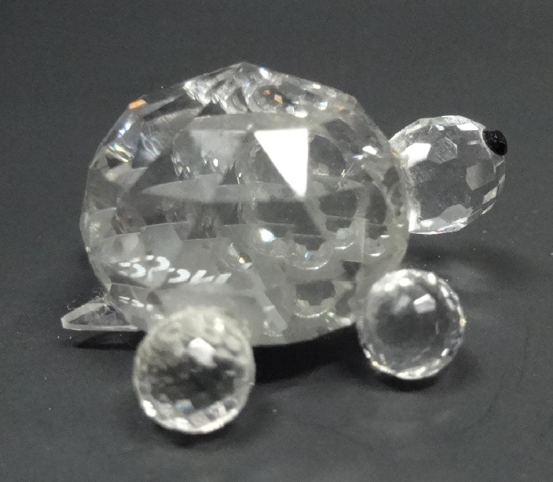 "CRYSTAL TURTLE FIGURINE, MARKED NC, APPROX 1.25""L - 4"