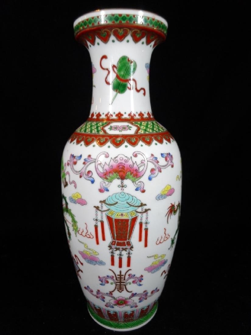 "LARGE CHINESE VASE, APPROX 12"" X 7"""