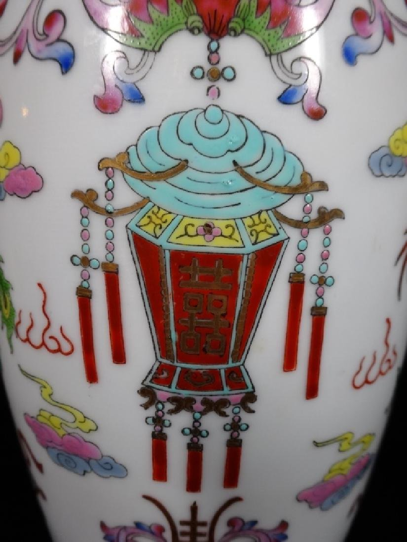 "LARGE CHINESE VASE, APPROX 12"" X 7"" - 2"