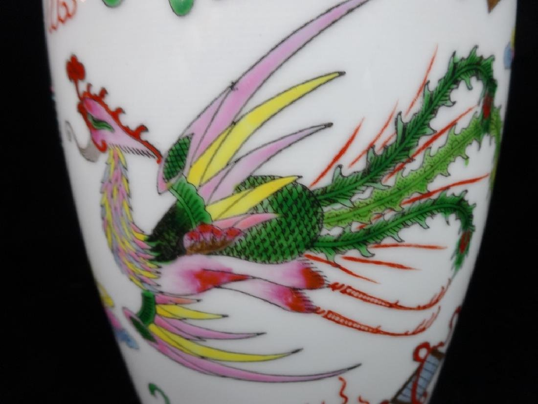 "LARGE CHINESE VASE, APPROX 12"" X 7"" - 3"