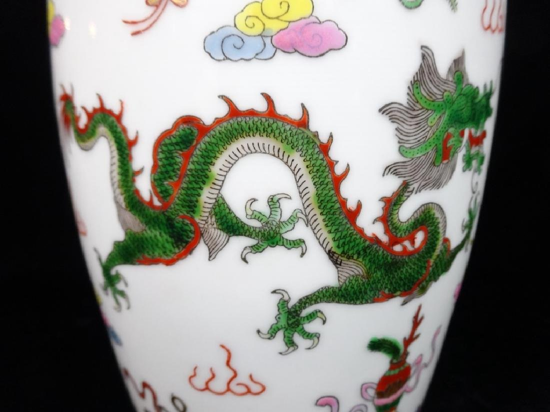 "LARGE CHINESE VASE, APPROX 12"" X 7"" - 4"
