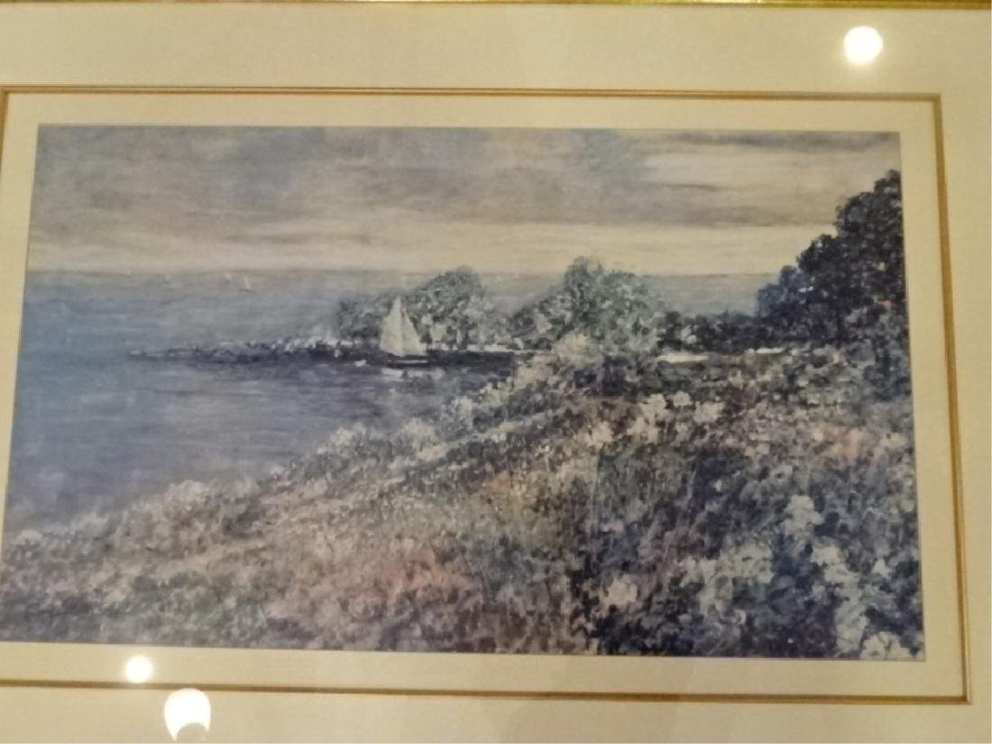FRAMED PRINT, COASTAL SCENE, SIGNED IN THE PLATE LOWER - 2