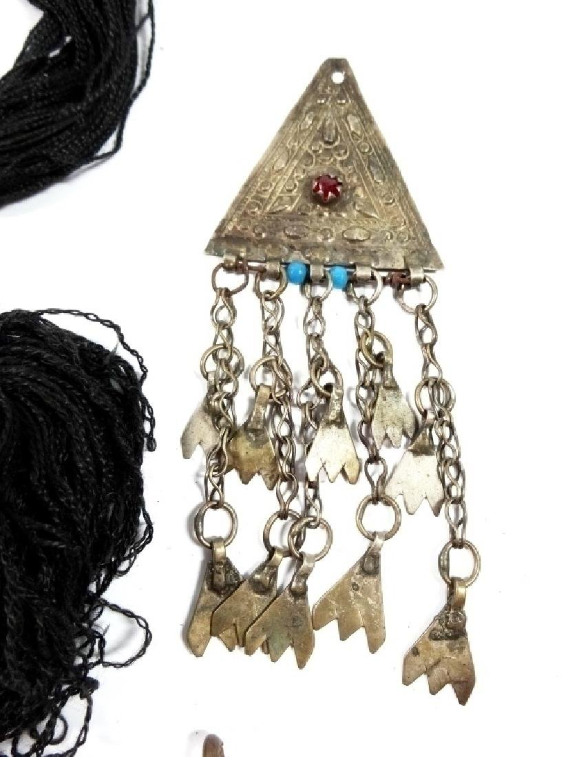 """4 PC MIDDLE EASTERN JEWELRY, LARGE PENDANT APPROX 3"""" X - 4"""