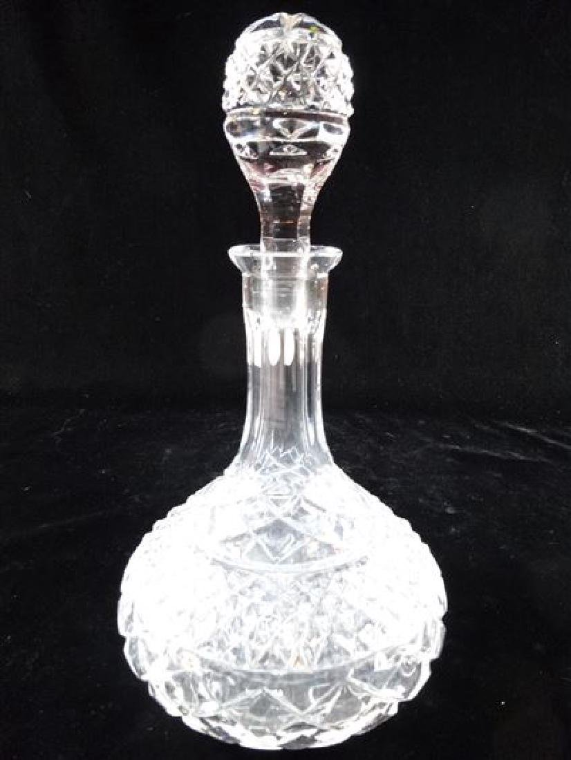 CRYSTAL DECANTER IWTH STOPPER, VERY GOOD CONDITION WITH