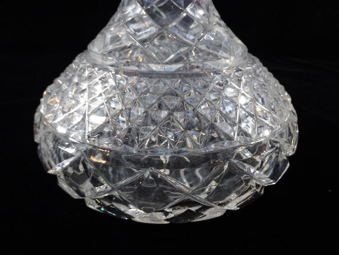 CRYSTAL DECANTER IWTH STOPPER, VERY GOOD CONDITION WITH - 2