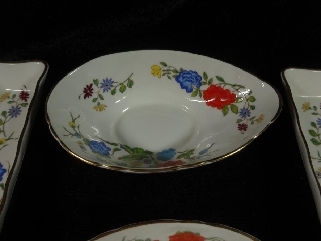 4 PC ANYNSLEY BONE CHINA, FAMILLE ROSE PATTERN, MADE IN - 3