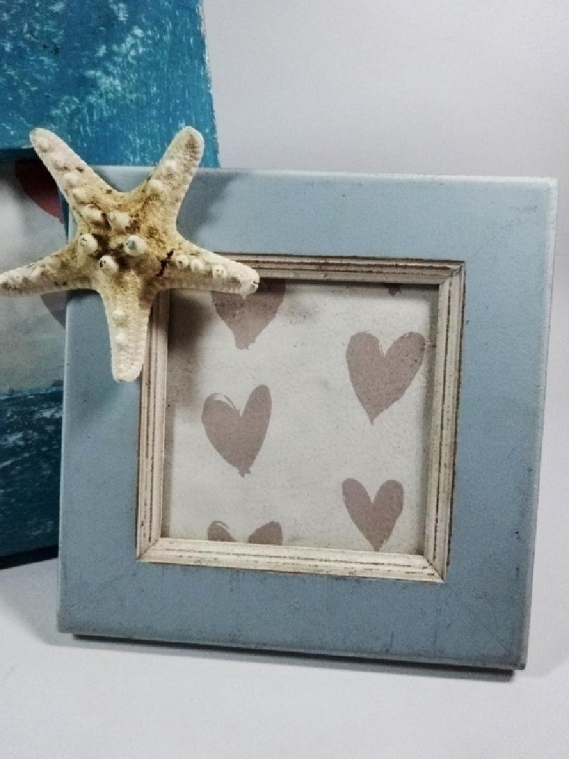 2 PC PICTURE FRAMES, ACCENTED WITH STARFISH, HOLD - 2