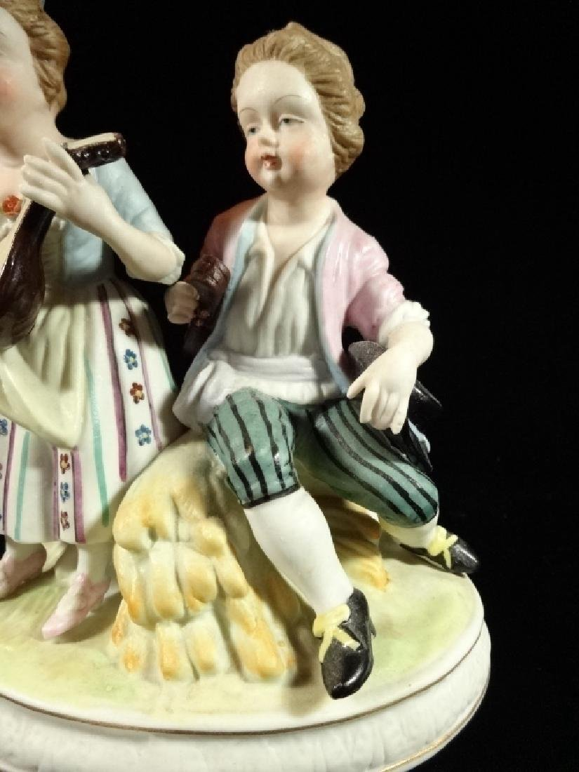 SHAFFORD PORCELAIN FIGURINE, 2 CHILDREN, MARKED, VERY - 3