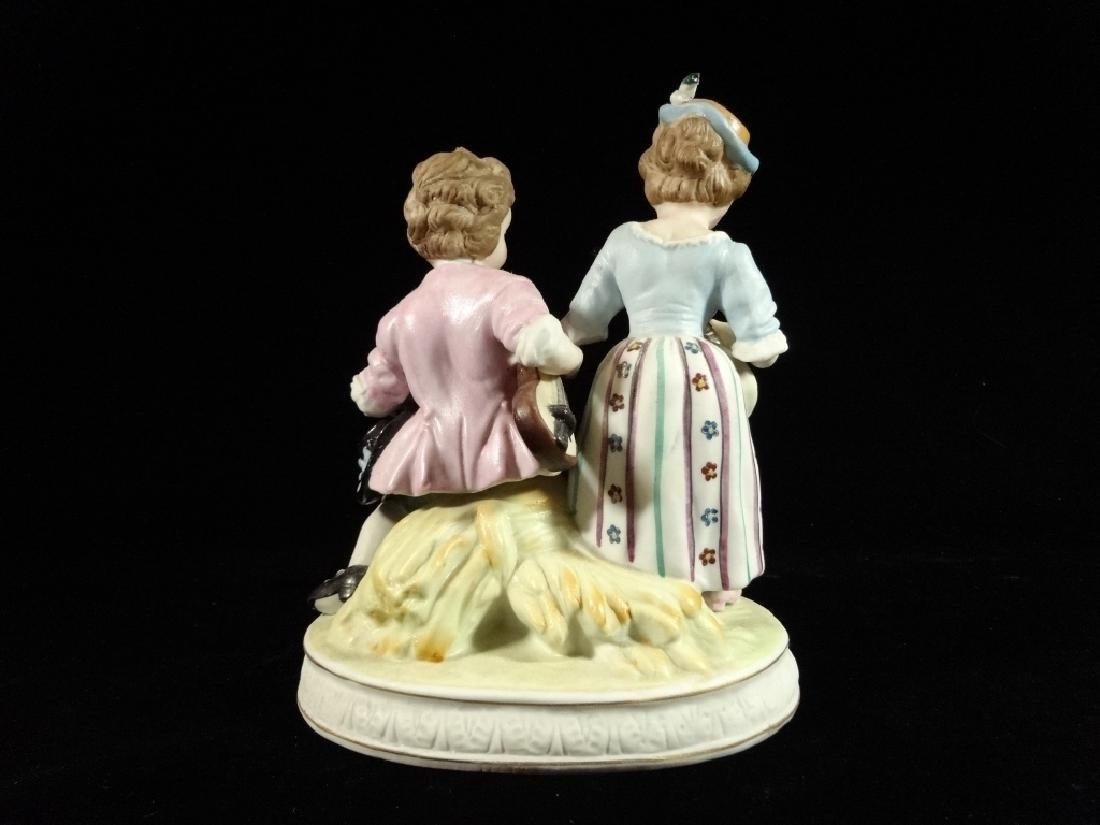SHAFFORD PORCELAIN FIGURINE, 2 CHILDREN, MARKED, VERY - 4