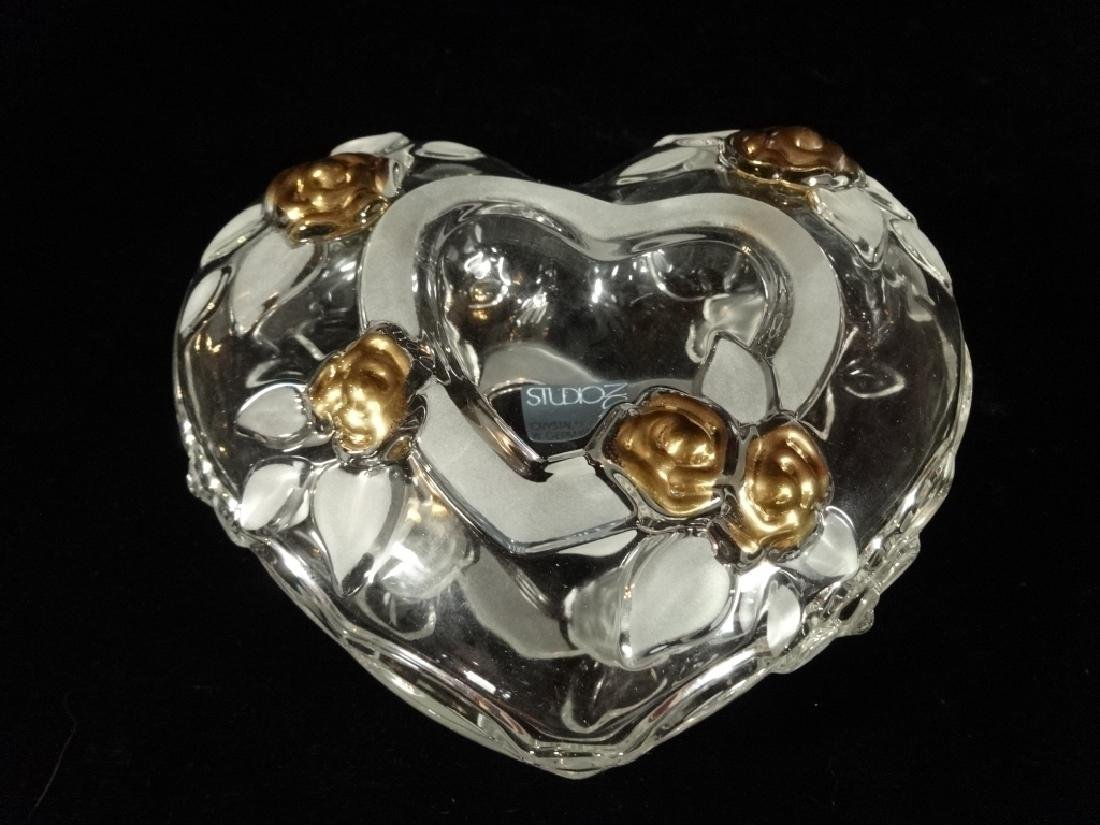 STUDIO NOVA VINTAGE CRYSTAL HEART BOX, CLEAR AND - 2