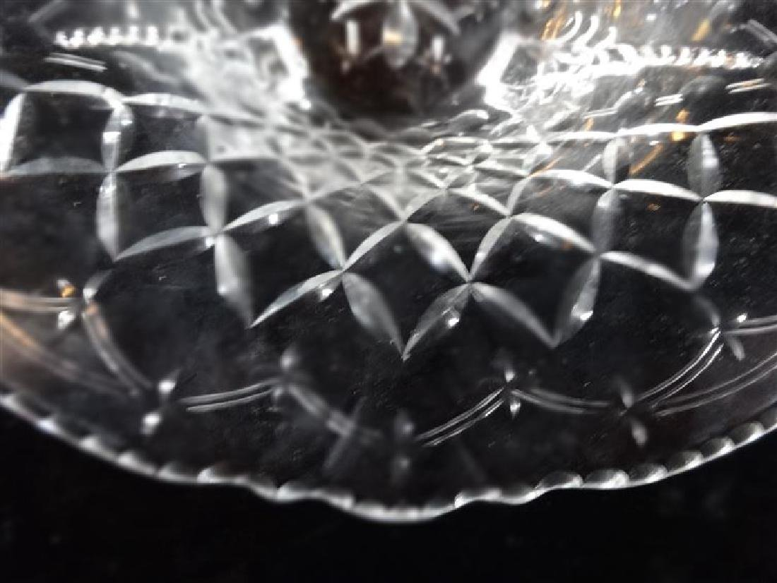 """CRYSTAL FOOTED BOWL, VERY GOOD CONDITION, 11""""W X 5""""H, - 4"""