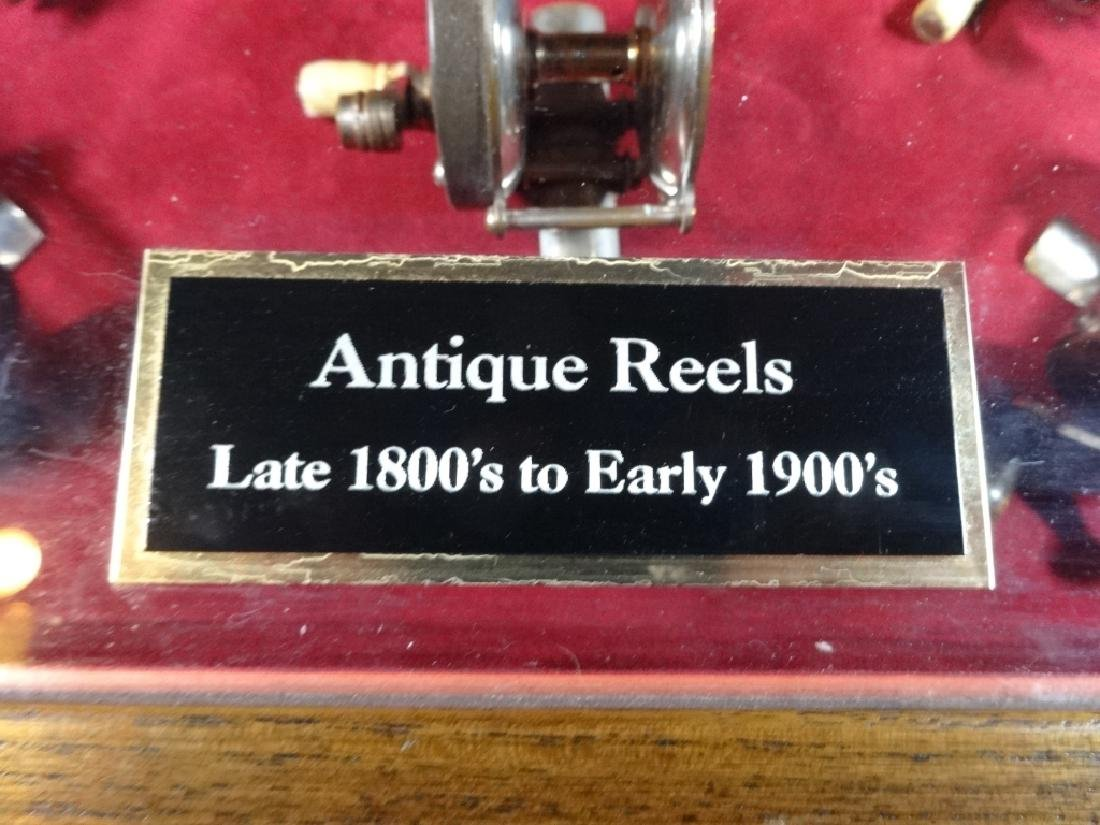 ANTIQUE FISHING REELS, LATE 1800'S TO EARLY 1900'S, - 4