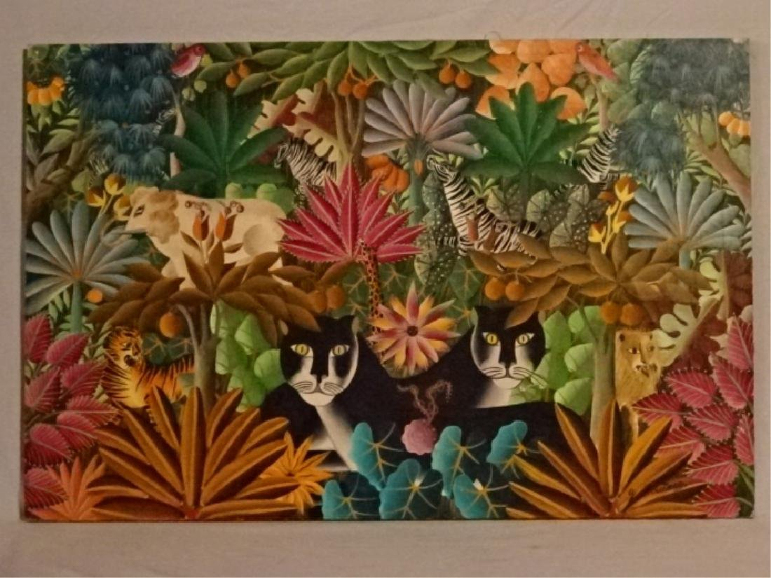 GABRIEL COUTARD HAITIAN ANIMALIST PAINTING ON CANVAS,
