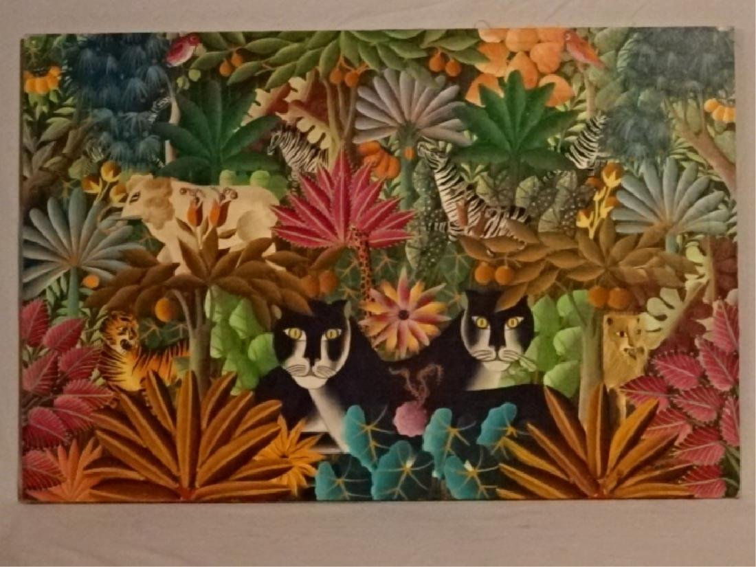 GABRIEL COUTARD HAITIAN ANIMALIST PAINTING ON CANVAS, - 2