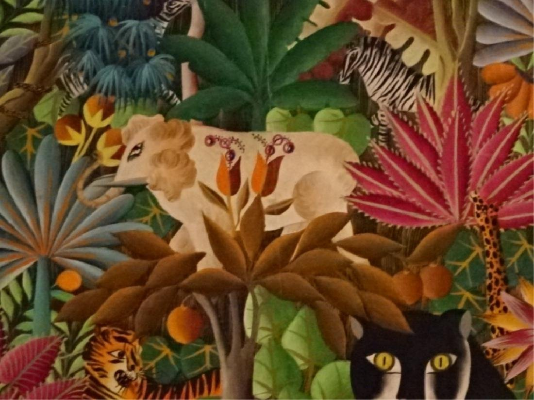 GABRIEL COUTARD HAITIAN ANIMALIST PAINTING ON CANVAS, - 5
