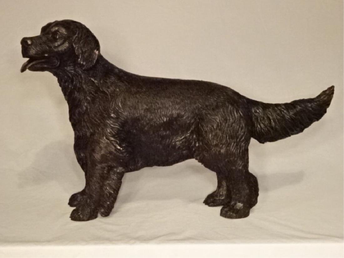 "BRONZE DOG SCULPTURE, EXCELLENT CONDITION, 26""W X 17""H"