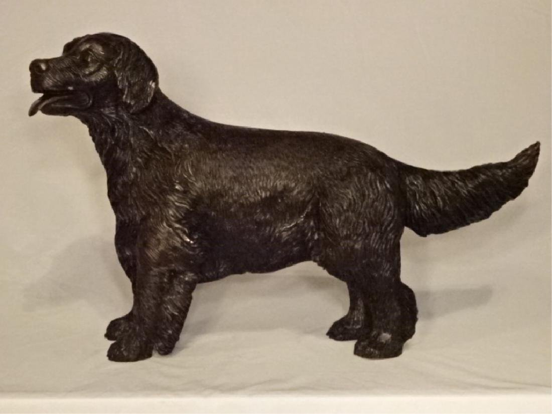 "BRONZE DOG SCULPTURE, EXCELLENT CONDITION, 26""W X 17""H - 2"