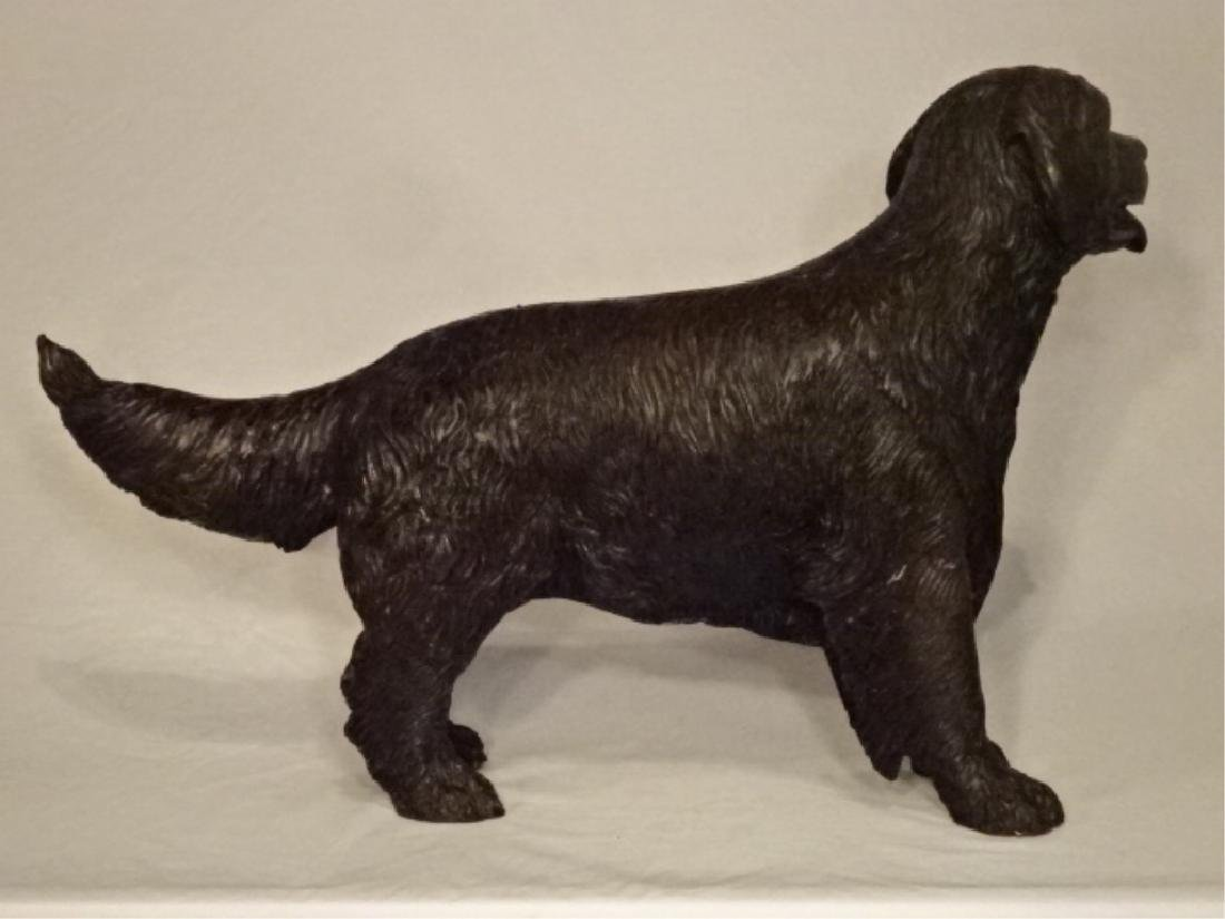 "BRONZE DOG SCULPTURE, EXCELLENT CONDITION, 26""W X 17""H - 5"