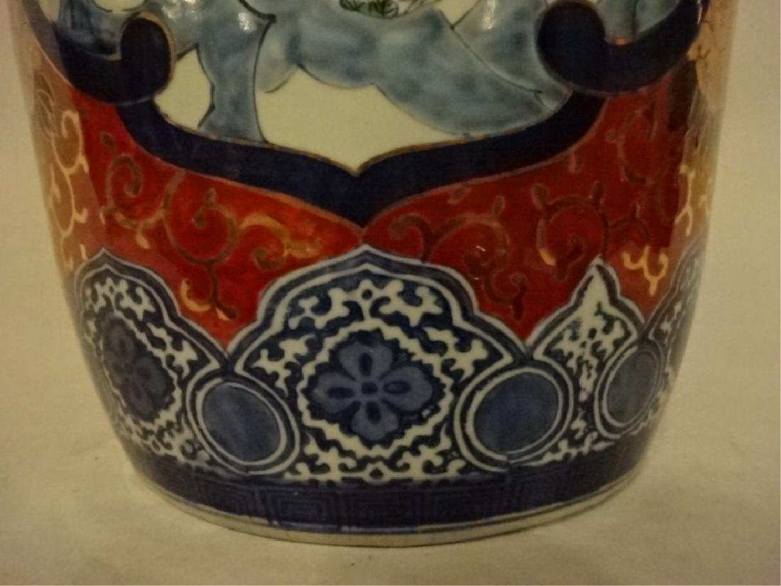 CHINESE PORCELAIN GARDEN STOOL, PAINTED FIGURES AND - 5