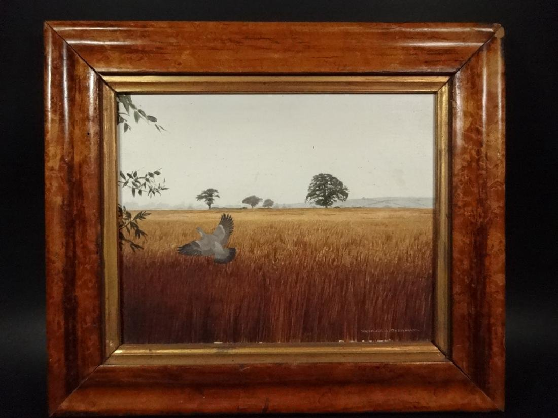 PATRICK A. OXENHAM PAINTING ON BOARD, LANDSCAPE, MEADOW