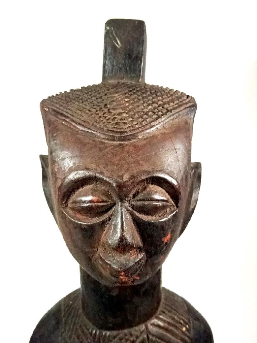 "AFRICAN CARVED WOOD SCULPTURE, MAN, APPROX 15.25""H - 2"