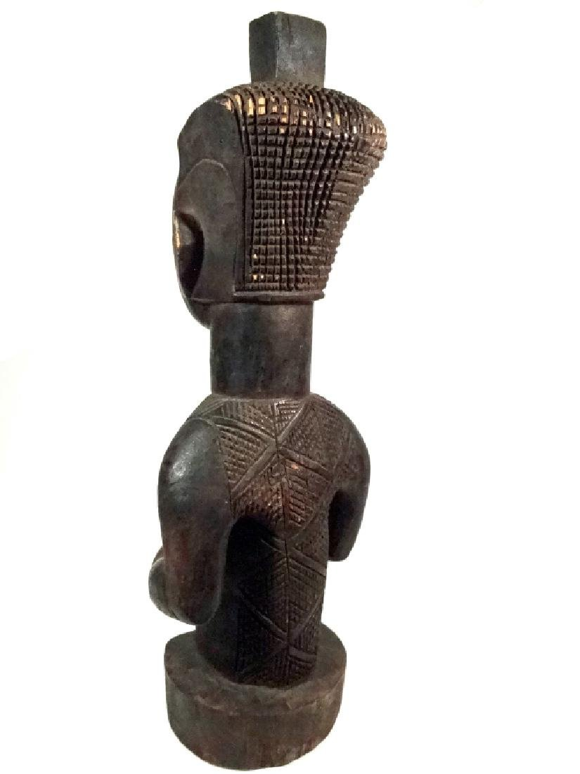 "AFRICAN CARVED WOOD SCULPTURE, MAN, APPROX 15.25""H - 5"
