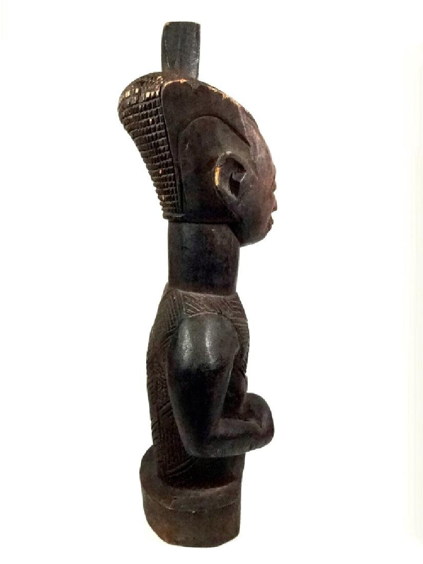 "AFRICAN CARVED WOOD SCULPTURE, MAN, APPROX 15.25""H - 7"