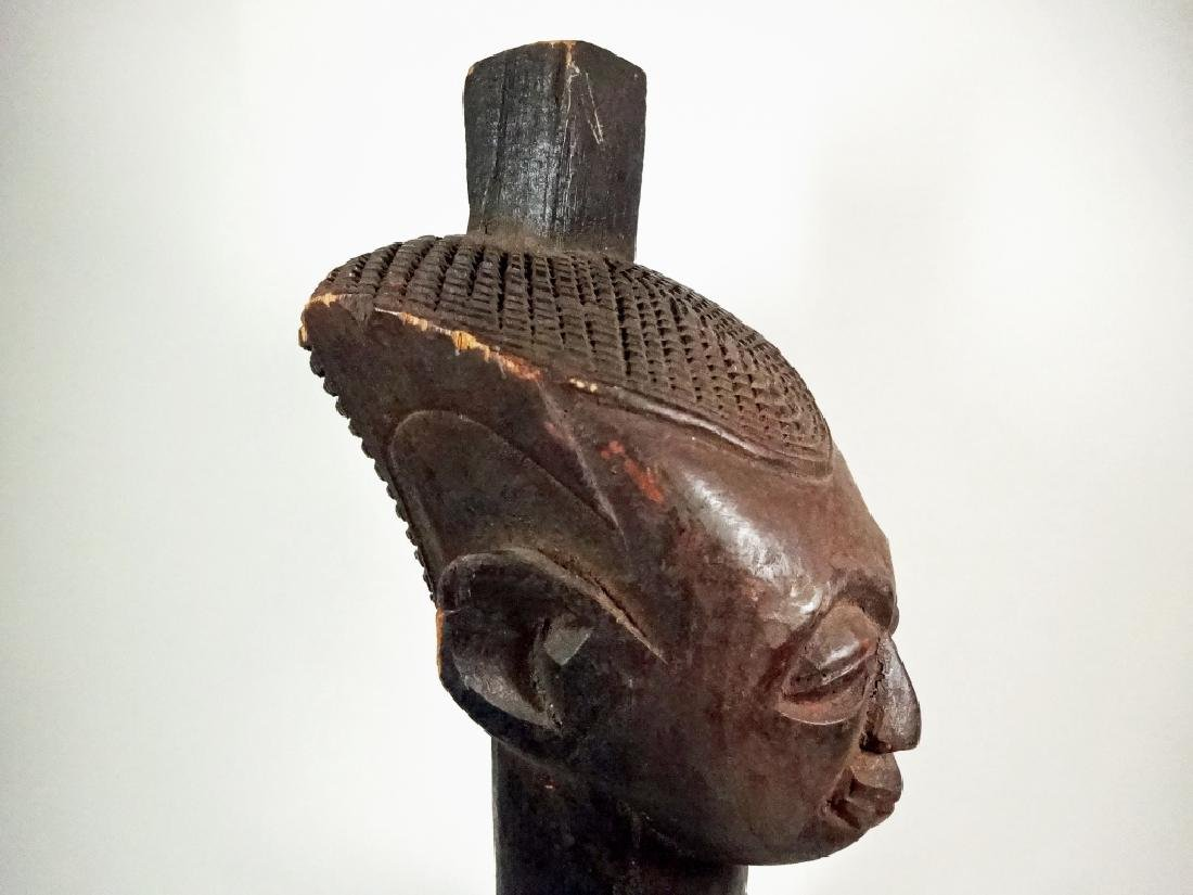 "AFRICAN CARVED WOOD SCULPTURE, MAN, APPROX 15.25""H - 8"