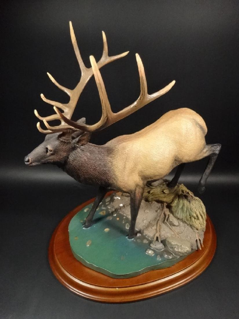 HAND PAINTED STAG SCULPTURE, THE CROSSING, BY BRUCE - 2