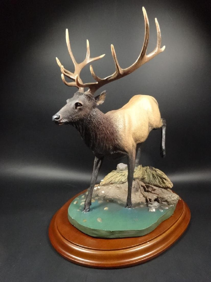 HAND PAINTED STAG SCULPTURE, THE CROSSING, BY BRUCE - 3