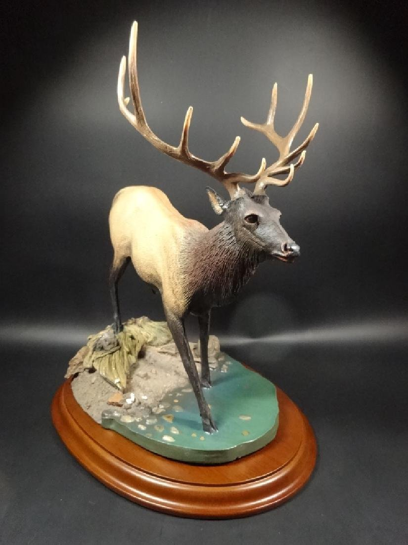 HAND PAINTED STAG SCULPTURE, THE CROSSING, BY BRUCE - 4