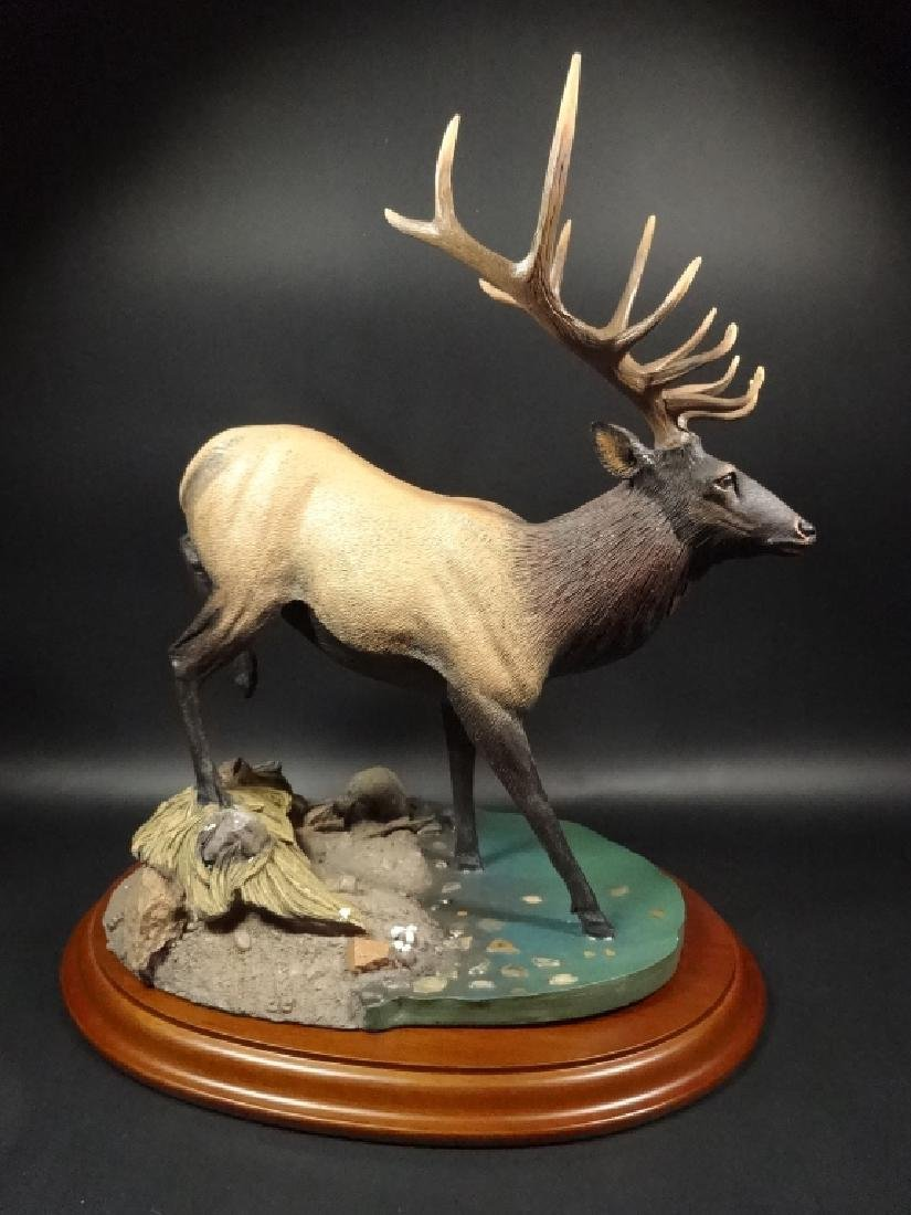 HAND PAINTED STAG SCULPTURE, THE CROSSING, BY BRUCE - 5