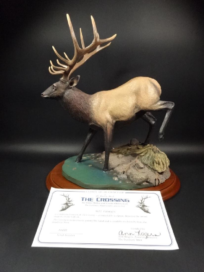 HAND PAINTED STAG SCULPTURE, THE CROSSING, BY BRUCE - 7