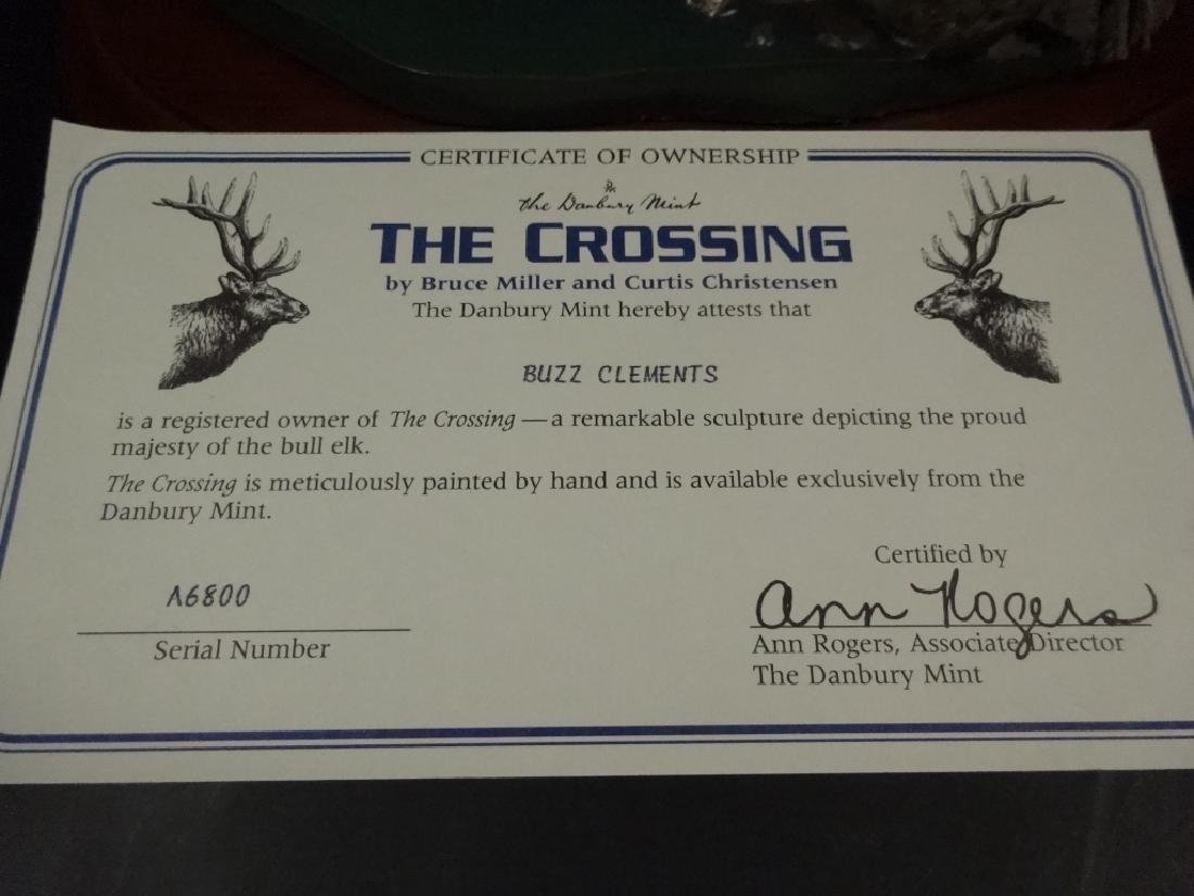 HAND PAINTED STAG SCULPTURE, THE CROSSING, BY BRUCE - 8