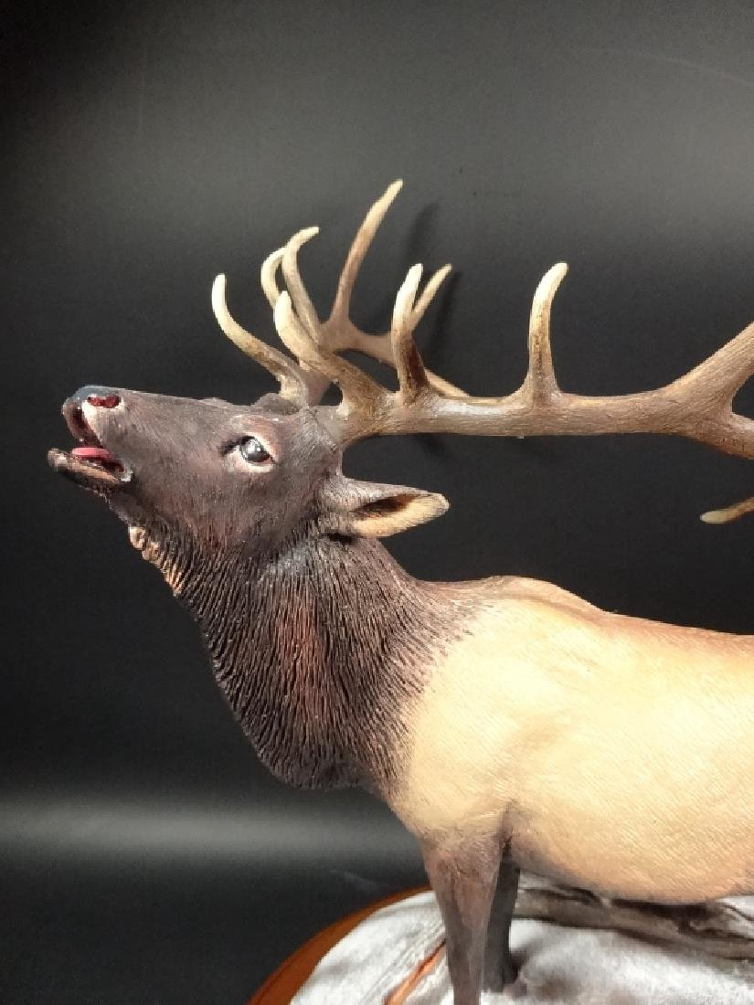 HAND PAINTED STAG SCULPTURE, WINTER CALL, BY BRUCE - 3