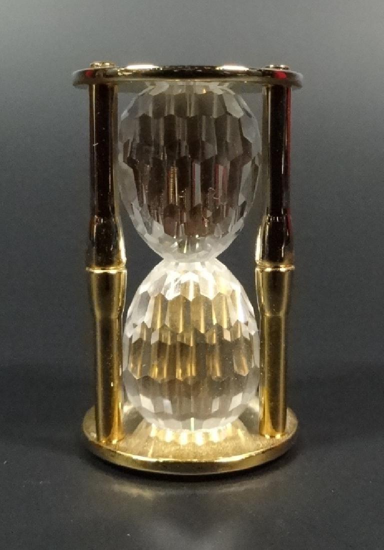RETIRED SWAROVSKI CRYSTAL MINI HOURGLASS, 18K GOLD - 2